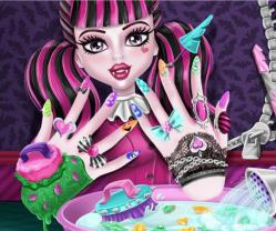 Monster high tırnak spa